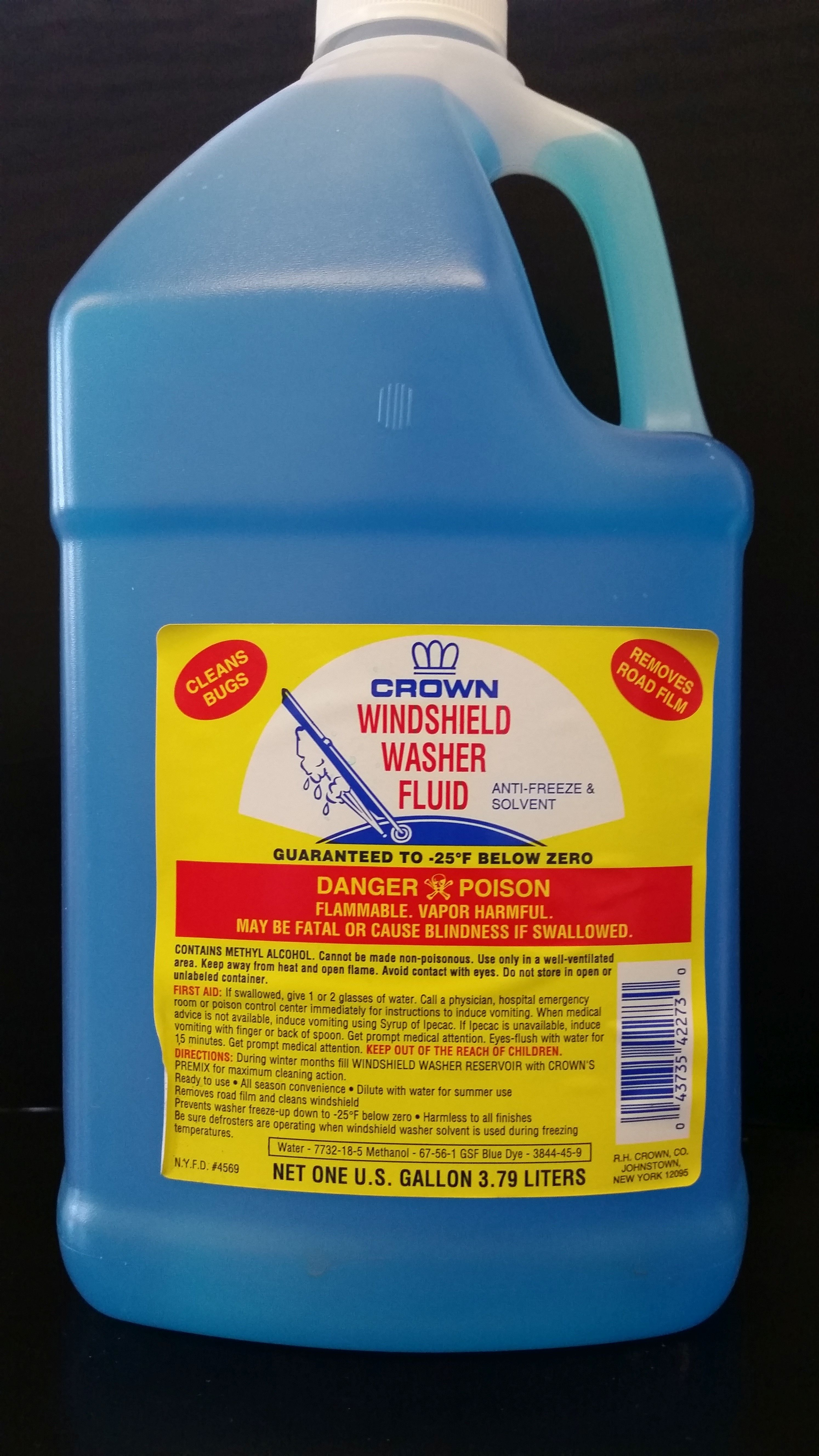 WINDSHIELD WASH -25 CROWN (6X1 GAL)
