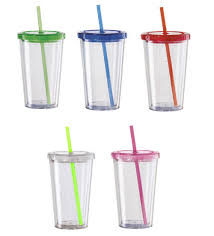 CUPS, LIDS AND STRAWS